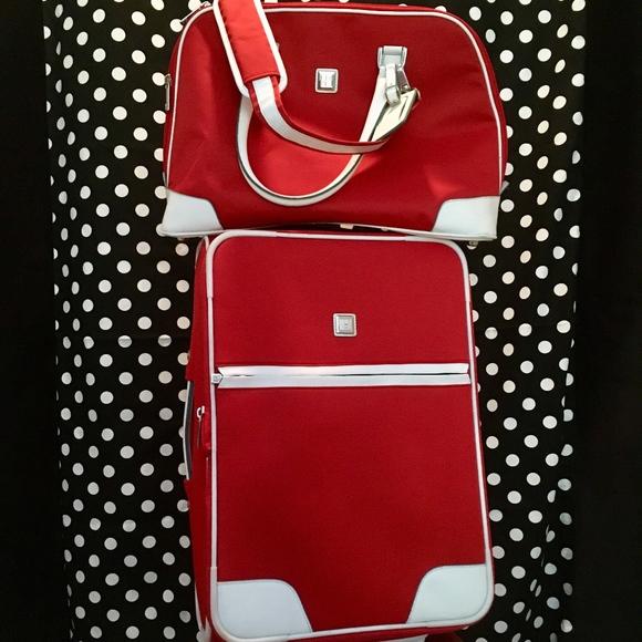 Diane Von Furstenberg Handbags - DIANE VON FURSTENBERG LUGGAGE SET    Red     White 7eef718117